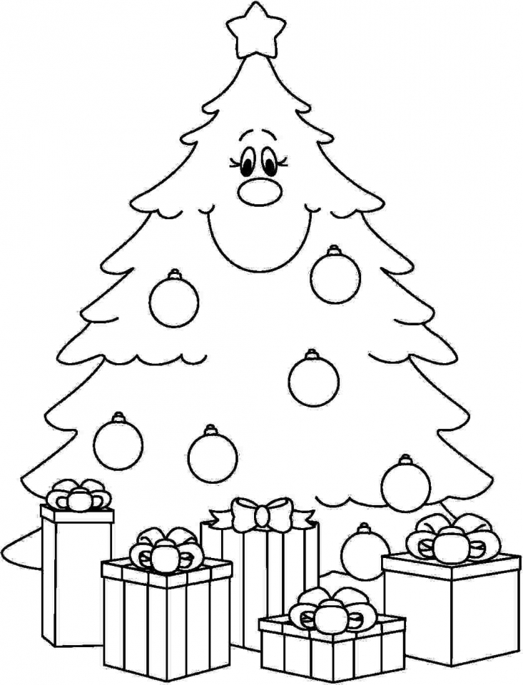 New Coloring | Free Christmas Tree Coloring Pages For Adults ... | 960x733