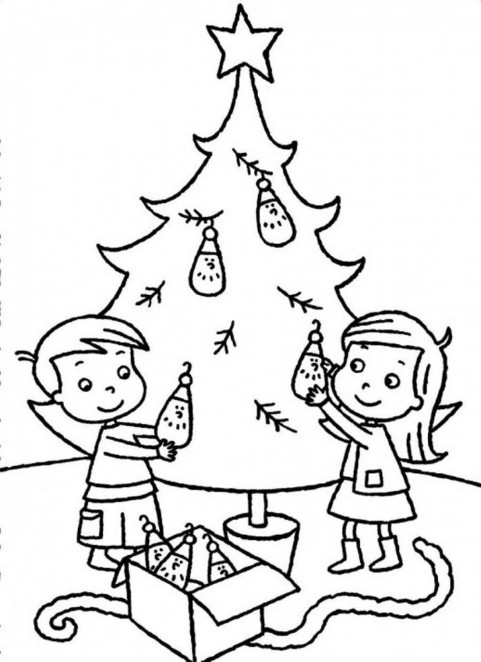 Get this printable christmas tree coloring pages for for Coloring pages for kids christmas