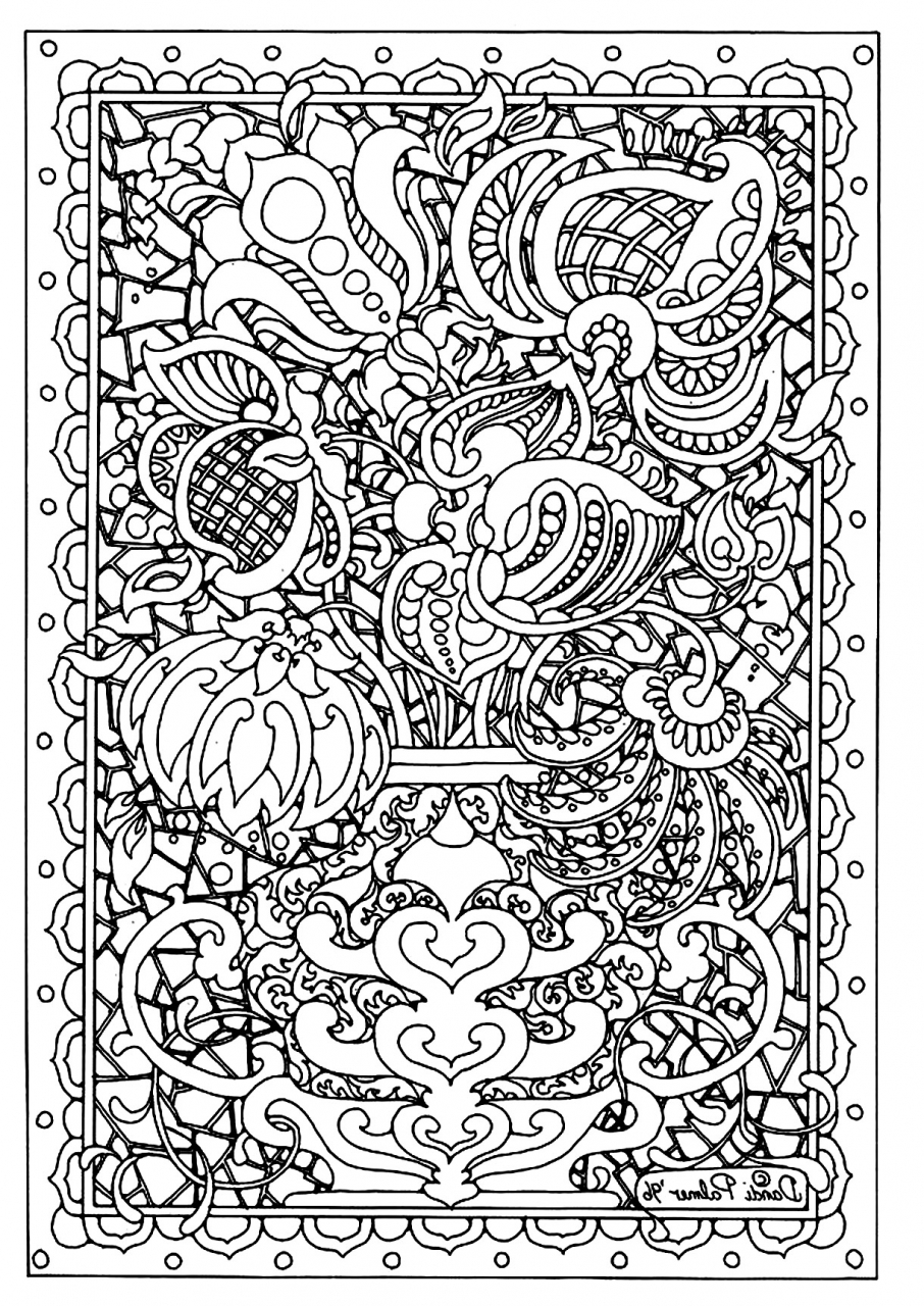 Get This Printable Difficult Coloring Pages For Adults 21673
