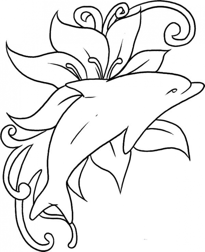 Get This Printable Dolphin Coloring Pages 75612