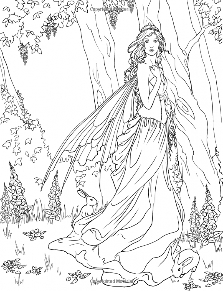 fairy princess free colouring pages. Black Bedroom Furniture Sets. Home Design Ideas