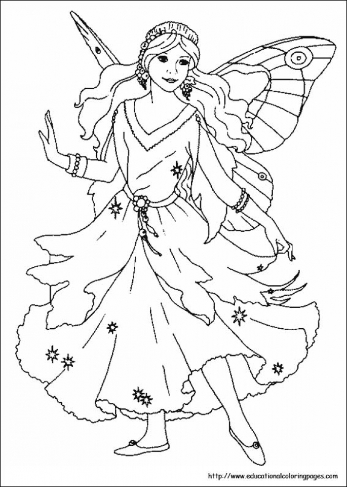 Get This Printable Fairy Coloring Pages 49811
