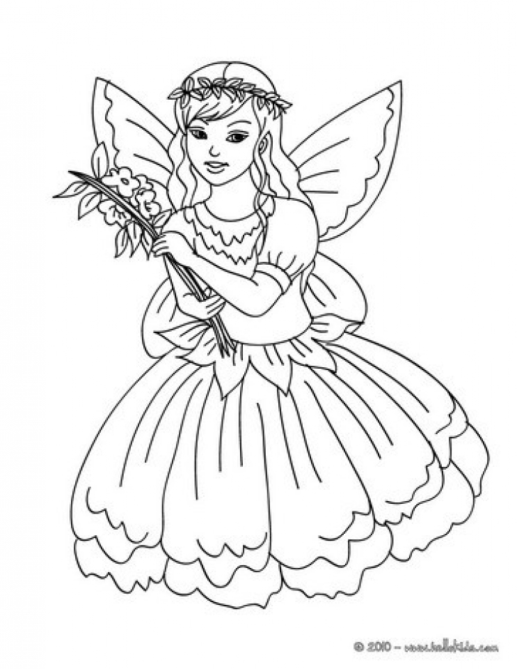 Printable Fairy Coloring Pages   89922