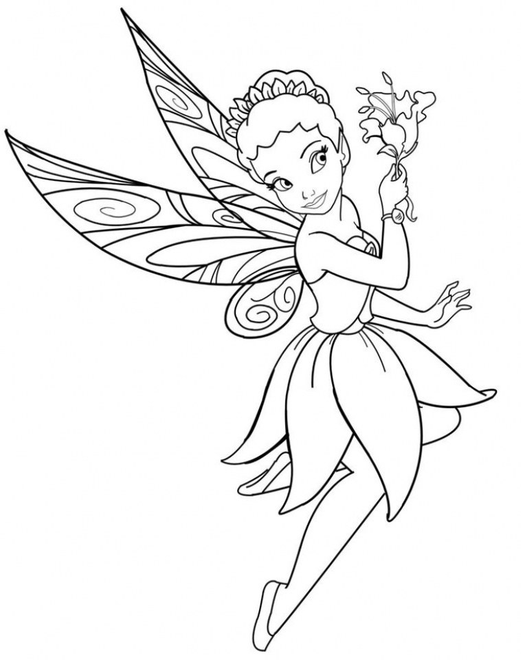Get This Printable Fairy Coloring Pages Online 28880
