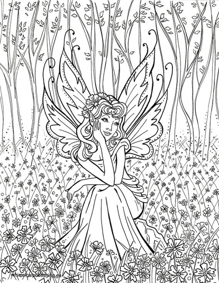 printable fairy coloring pages online 95845 - Printable Fairy Coloring Pages
