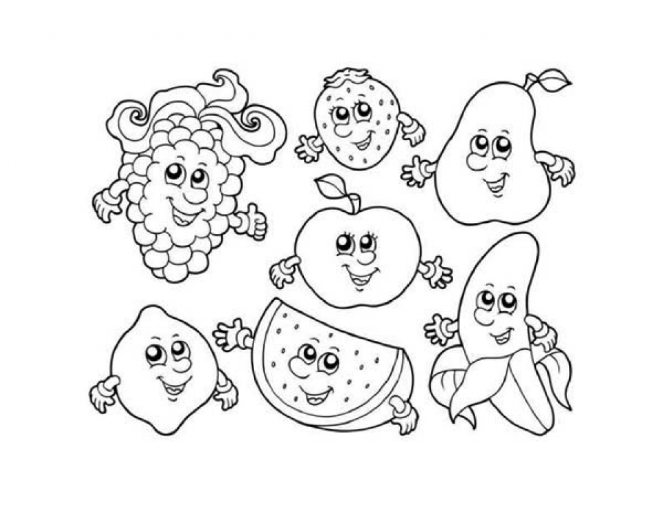 The gallery for halloween witch coloring pages for kids for Printable fruit coloring pages