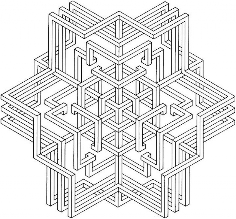 get this printable geometric coloring pages 14691