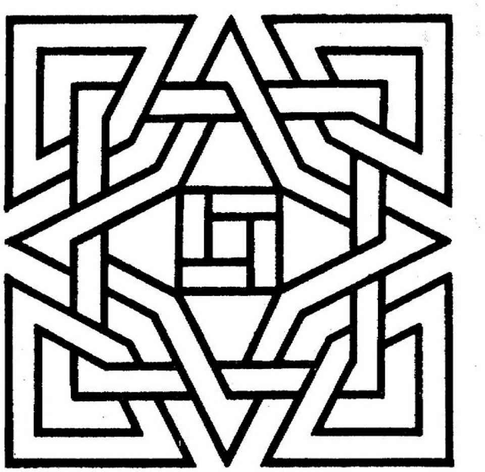 Doodle art coloring pages printable - Printable Geometric Coloring Pages Online 28876