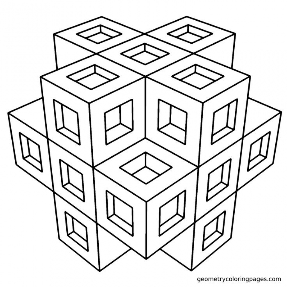Get this printable geometric coloring pages online 63955 for Geometric coloring pages online