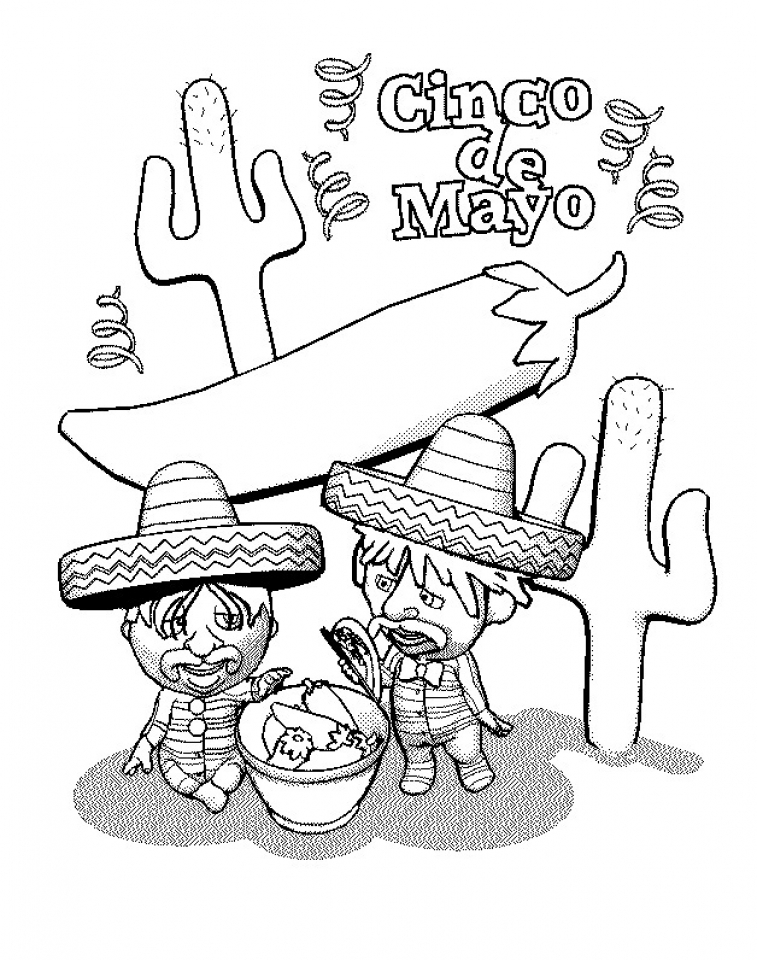 Get This Printable Image Of Cinco De Mayo Coloring Pages 90232 Cinco De Mayo Coloring Pages