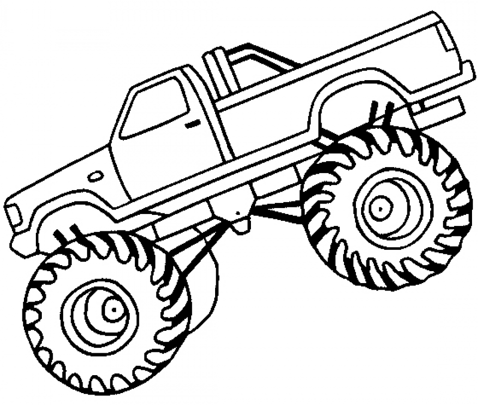 Get this printable monster truck coloring pages online 12904 for Free truck coloring pages
