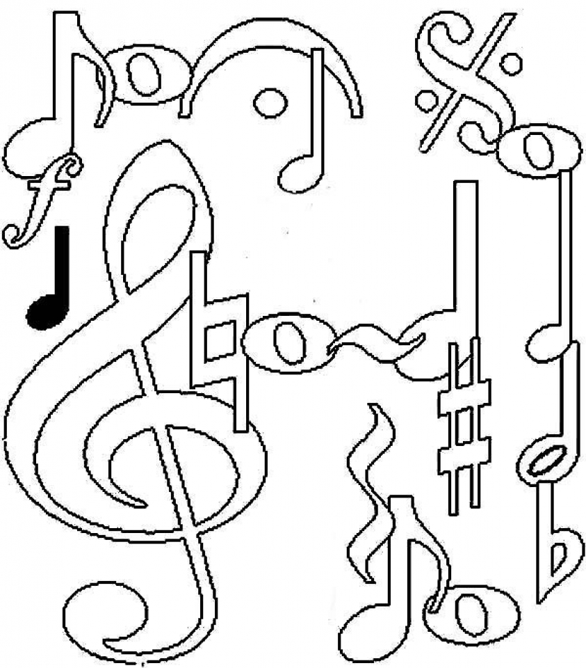 It's just a graphic of Decisive Musical Coloring Page