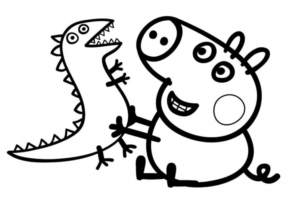 printable peppa pig coloring pages online 34669 - Peppa Pig Coloring Pages