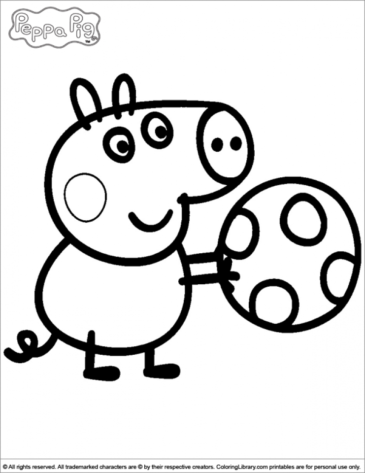 Get This Printable Peppa Pig Coloring Pages Online 63956 !
