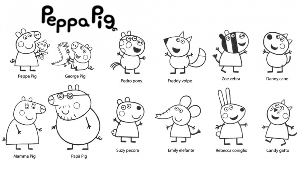 printable peppa pig coloring pages online 86936 - Peppa Pig Coloring Pages