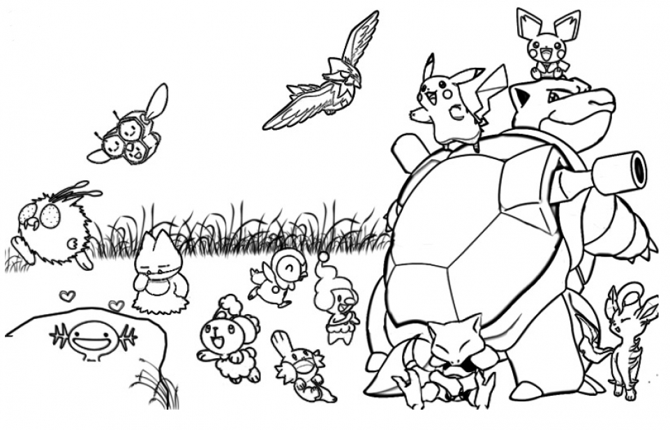 Get This Printable Pokemon Coloring Page 52881