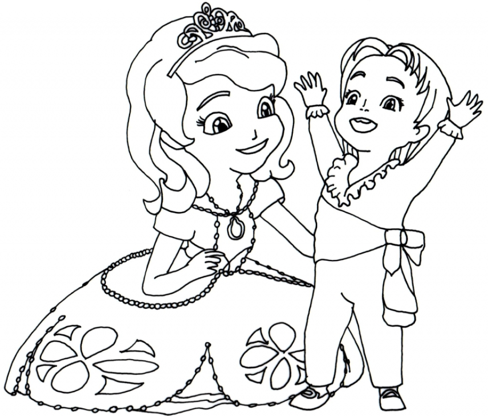 printable sofia the first princess coloring pages for girls 21867