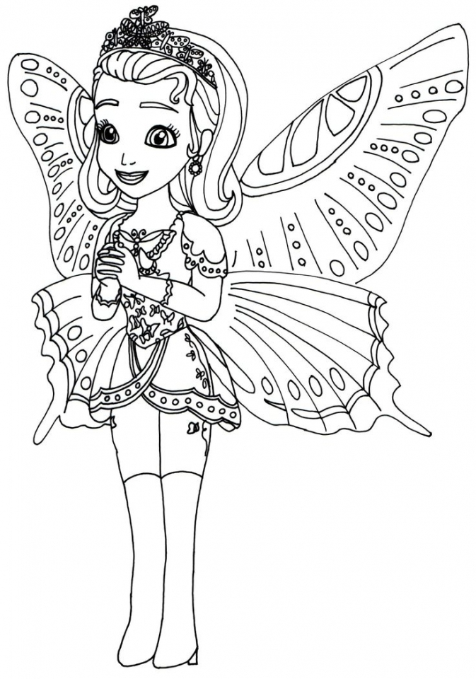 Printable Sofia The First Princess Coloring Pages For Girls 39821 on Lisa Frank Coloring Pages