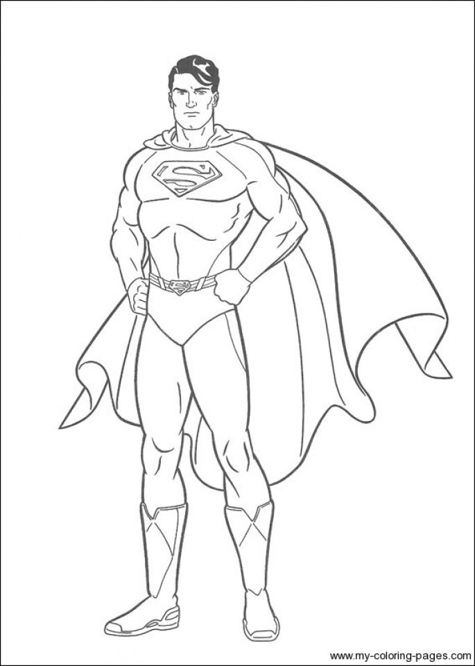Get This Printable Superman Coloring Pages 49809 !