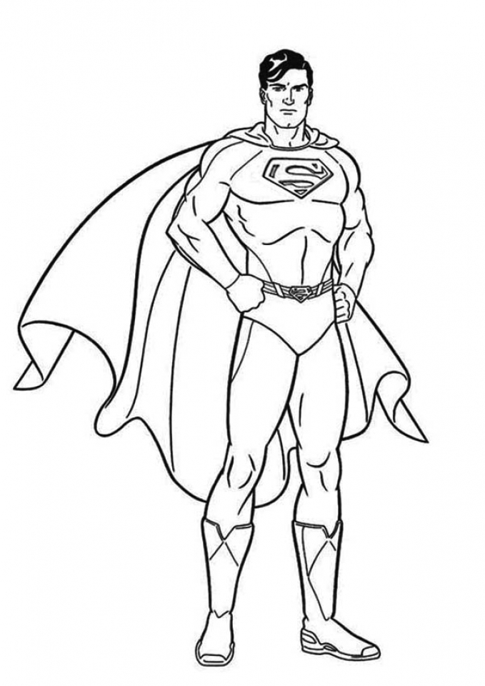 Get This Printable Superman Coloring Pages Online 28878