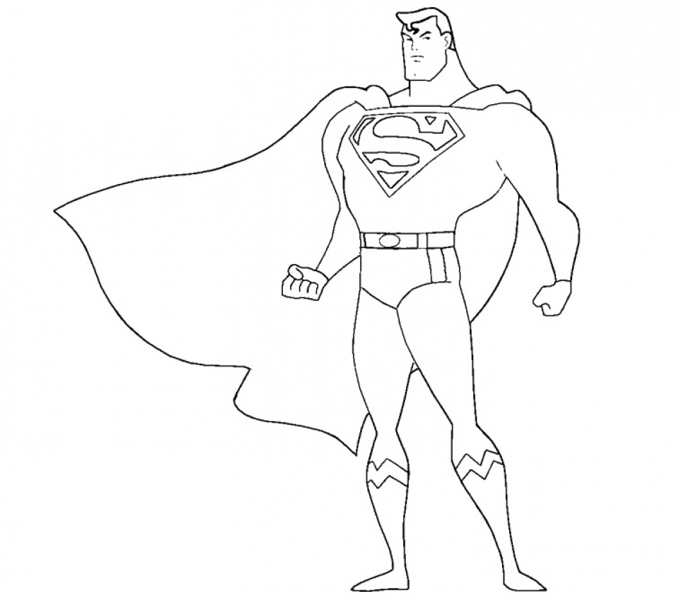 Get This Printable Superman Coloring Pages Online 34670