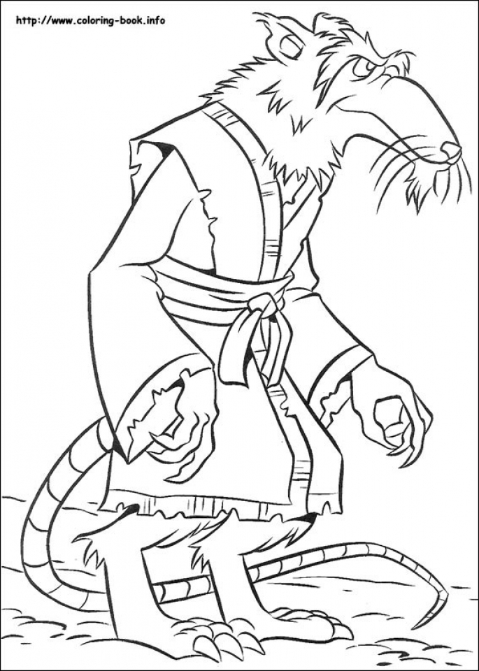 Printable Teenage Mutant Ninja Turtles Coloring Pages Online 80649