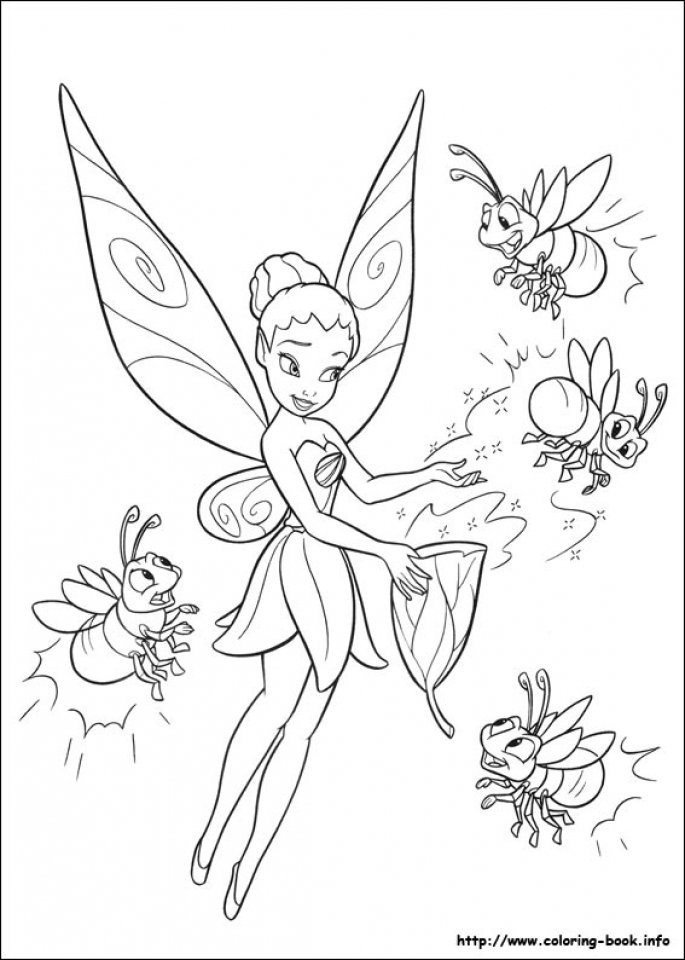 printable tinkerbell coloring pages 4422