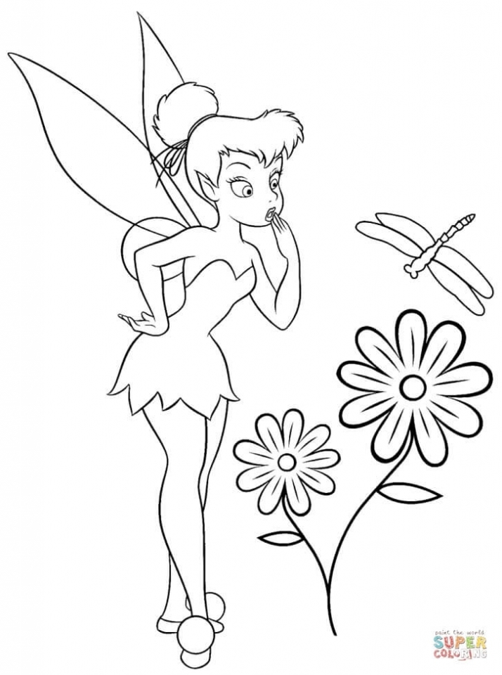 Get This Printable Tinkerbell Coloring Pages Online 89889 !