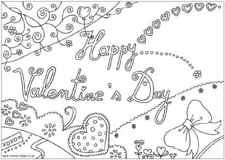 online valentine coloring pages - photo#24