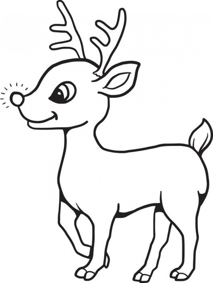 Get This Reindeer Coloring Pages for Kids 63710