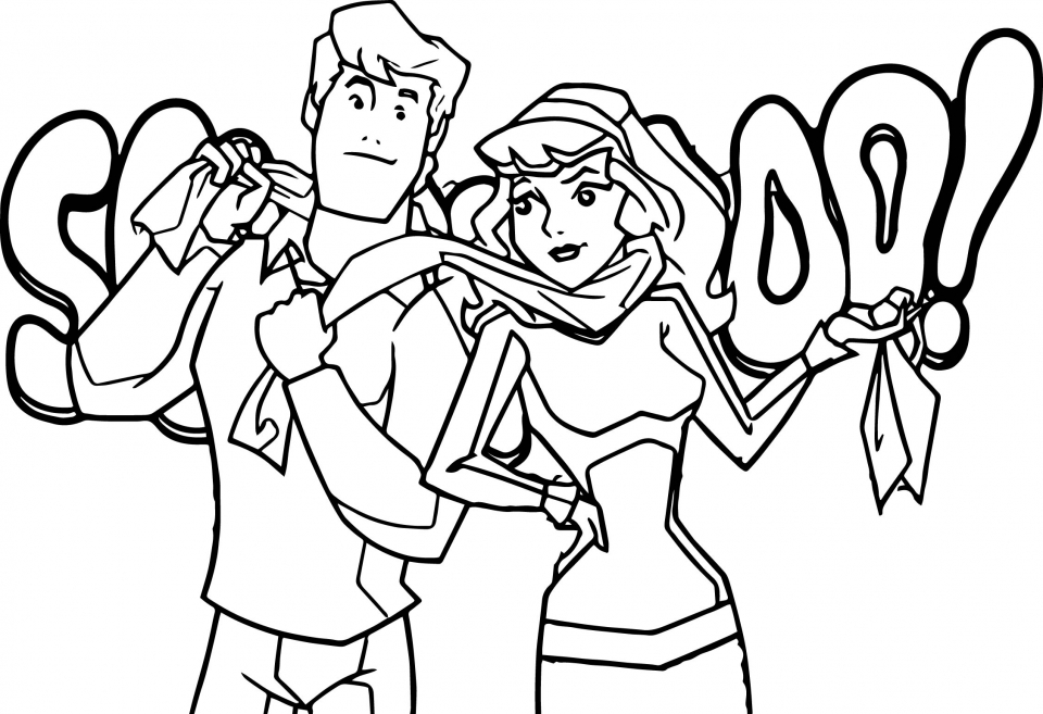 Be Cool Scooby Doo Coloring Pages