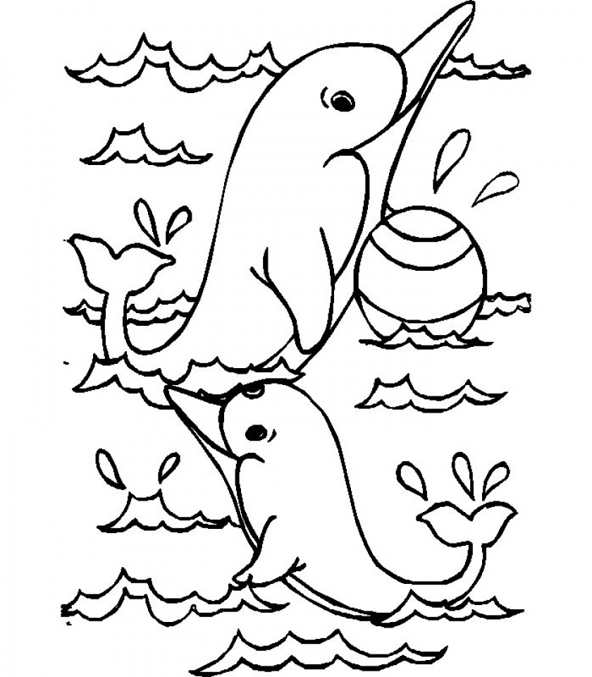 get this sea animals dolphin coloring pages 28193