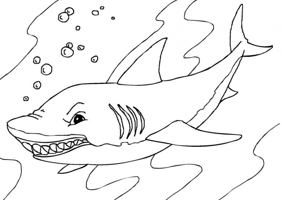 Get This Shark Coloring Pages Printable 41674 Sharks Coloring Pages