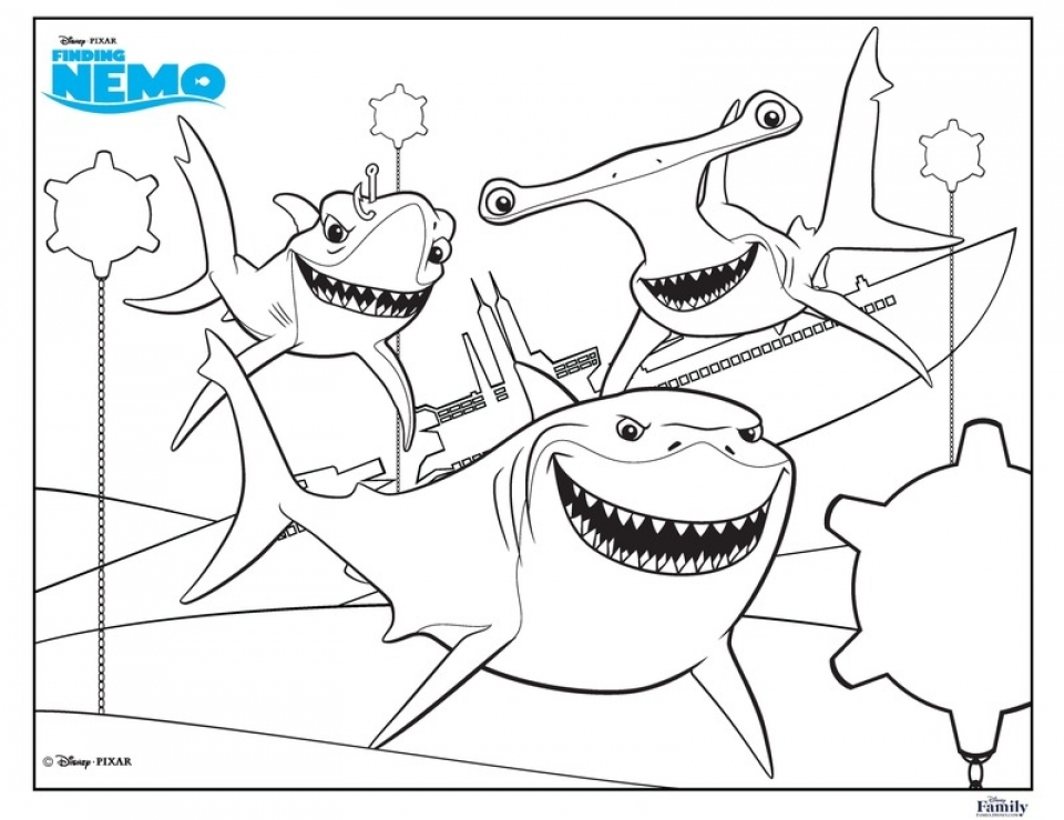 Charmant Shark Coloring Pages To Print 96792