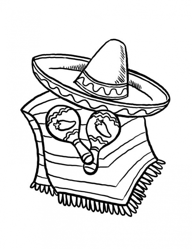 simple cinco de mayo coloring pages to print for preschoolers 78504 - Cinco De Mayo Skull Coloring Pages