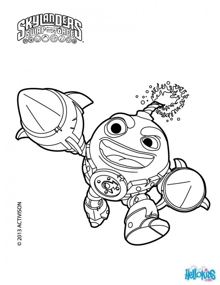 Get This Skylander Coloring Pages Online 57382
