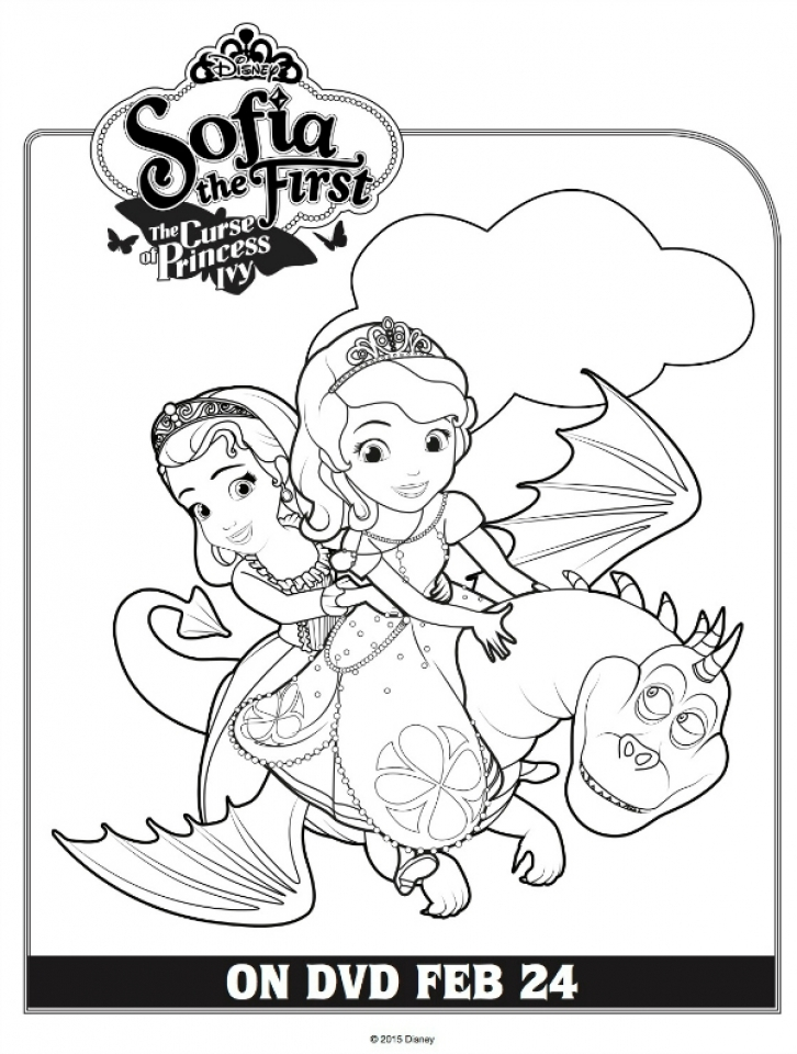 Get This Sofia the First Coloring