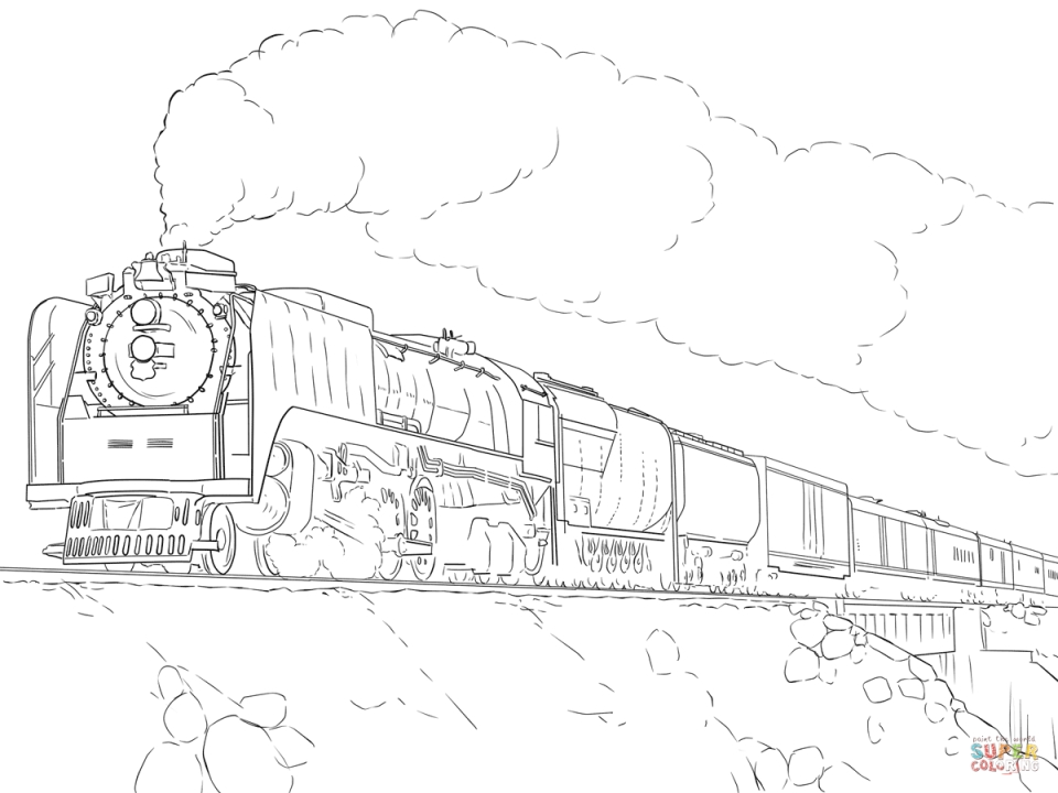 Get This Steam Train Coloring Pages 88416 !