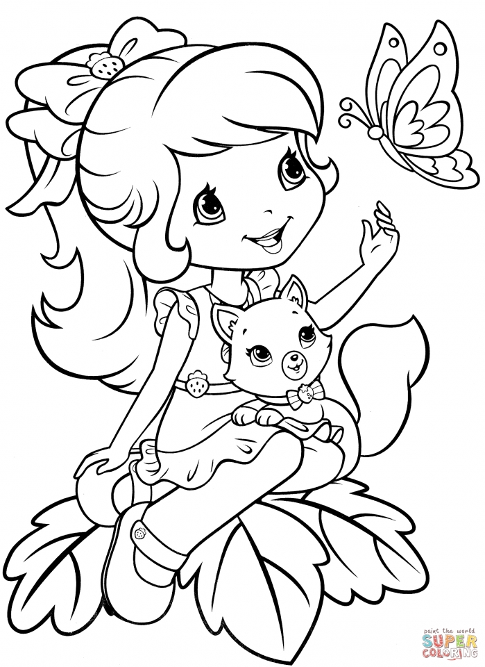 get this strawberry shortcake coloring pages for girls 14251
