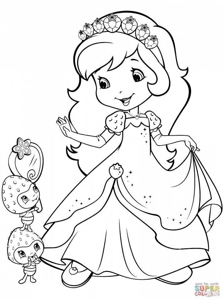 strawberry shortcake coloring pages for girls 41672