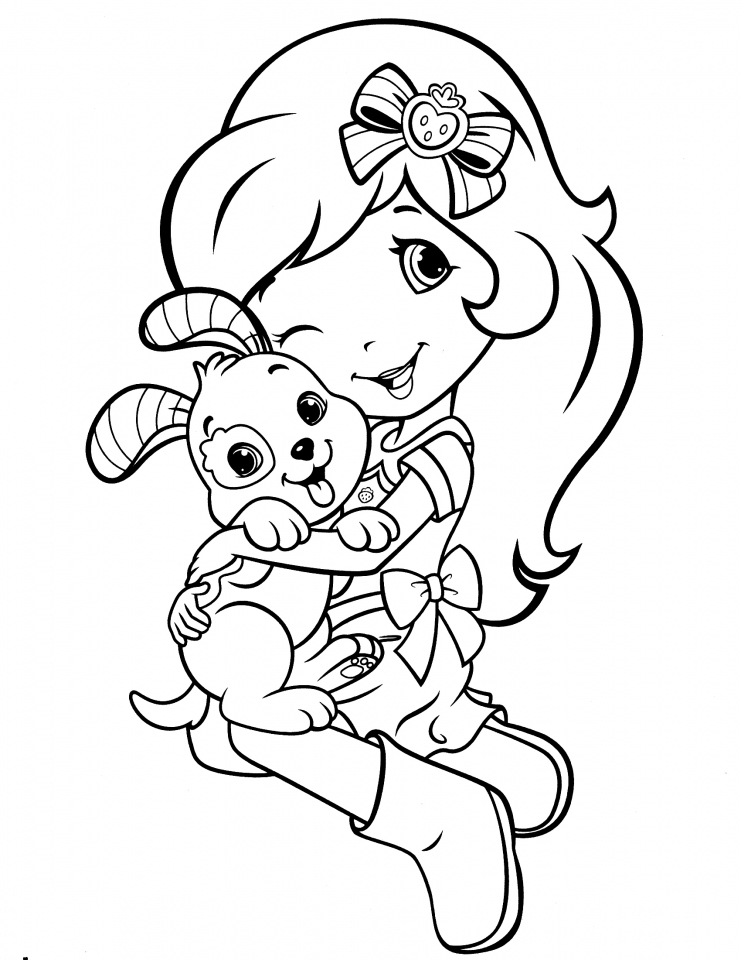 online strawberry shortcake coloring pages - photo#4