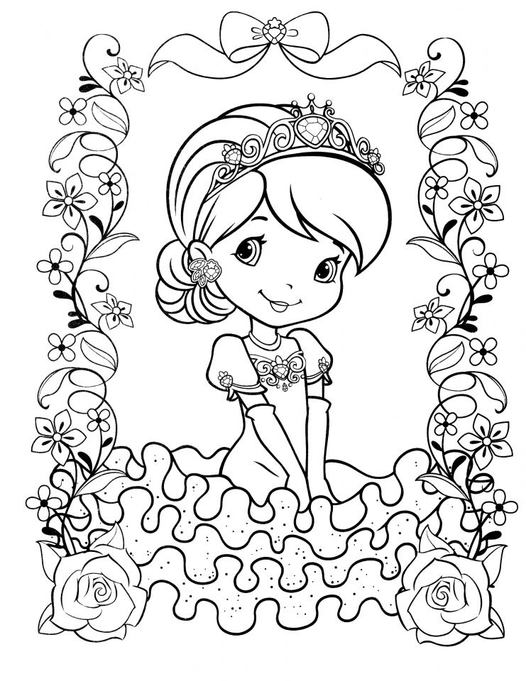 coloring pages strawberry - get this strawberry shortcake coloring pages online 18518