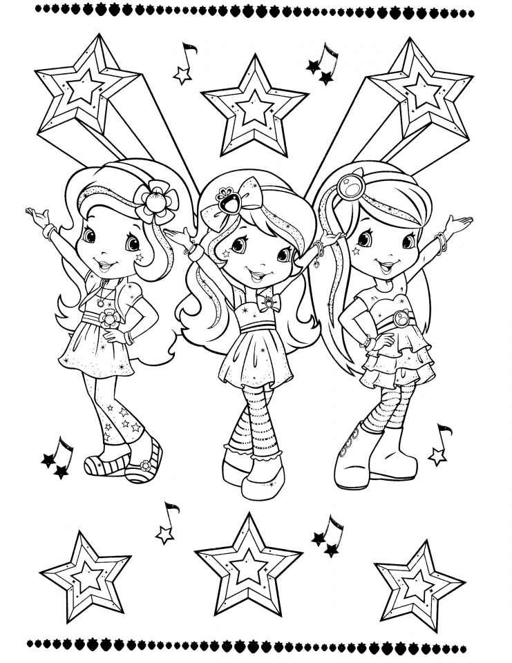 strawberry shortcake coloring pages online 94910 - Strawberry Shortcake Coloring Pages