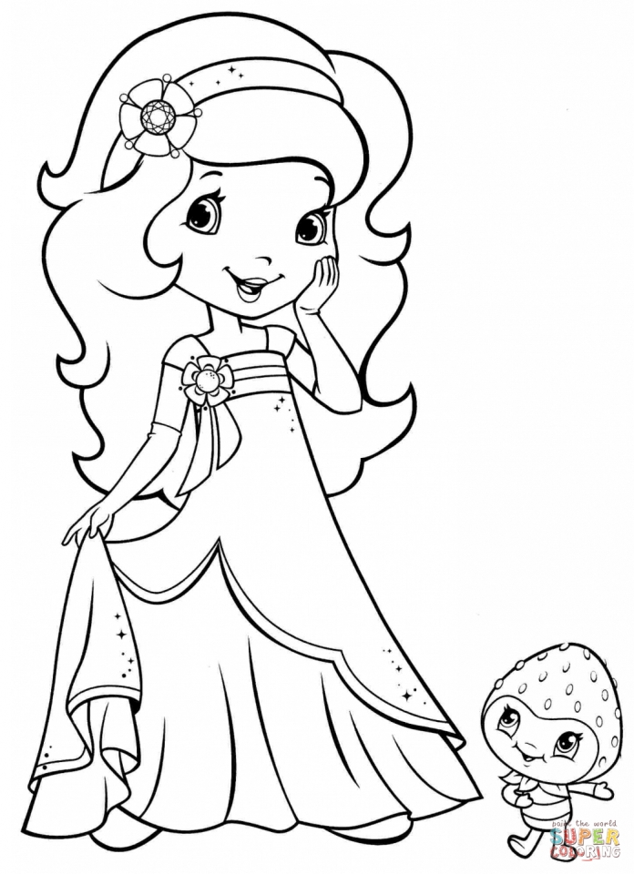 Get This Strawberry Shortcake Printable Coloring Pages 05701