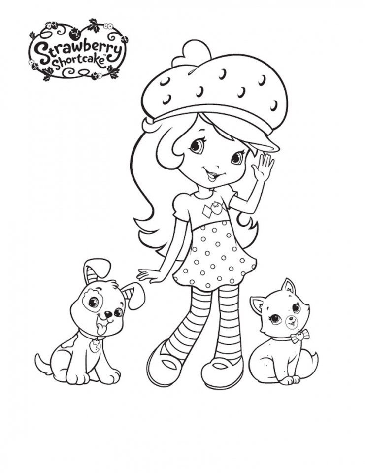 Get This Strawberry Shortcake Printable Coloring Pages 99673
