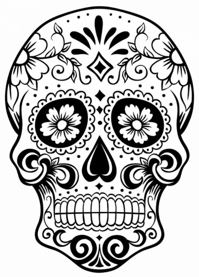 Get This Sugar Skull Coloring Pages Adults Printable 98503