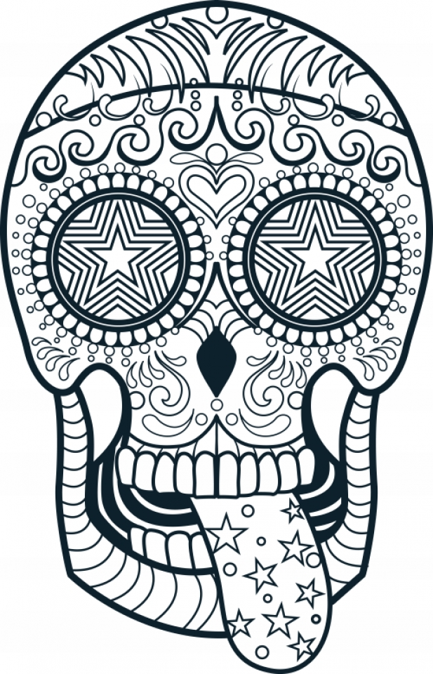 Get This Sugar Skull Coloring Pages for Adults 47193 !