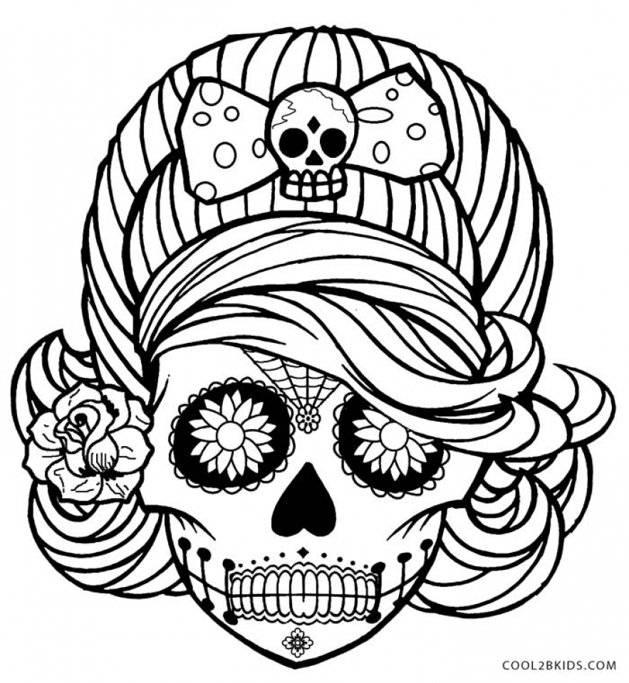 Get this sugar skull coloring pages for grown ups 5759 for Free sugar skull coloring pages