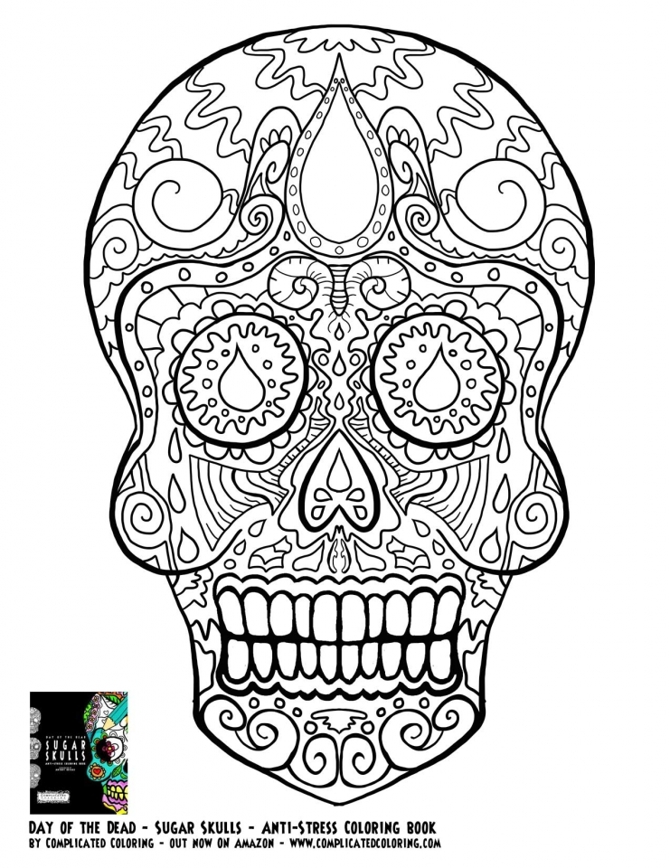 sugar skull coloring pages to print for free 35625 - Sugar Skull Coloring Pages