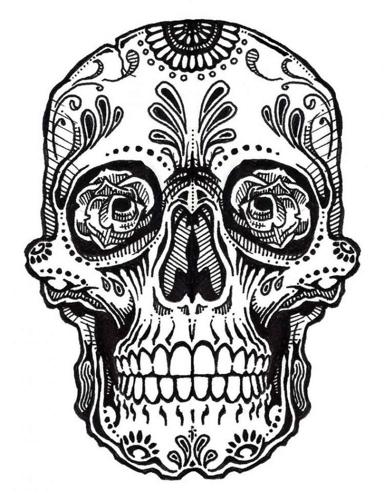 Get This Sugar Skull Coloring Pages to Print for Free 64892